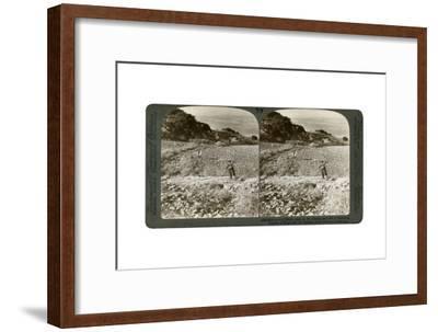 The Rock of Elijah's Altar on Mount Carmel, and the Plain of Esdraelon, Palestine, 1900-Underwood & Underwood-Framed Giclee Print