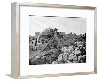 An Algerian Soldier on Sentry Duty, Artois, France, 1915--Framed Giclee Print