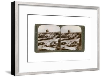 The Dome of the Rock, Where the Temple Alter Stood, Mount Moriah, Jerusalem, Palestine, 1900-Underwood & Underwood-Framed Giclee Print