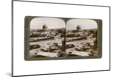 The Dome of the Rock, Where the Temple Alter Stood, Mount Moriah, Jerusalem, Palestine, 1900-Underwood & Underwood-Mounted Giclee Print