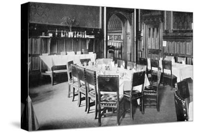 Ministers' Table, House of Commons Dining Room, Palace of Westminster, London, C1905--Stretched Canvas Print