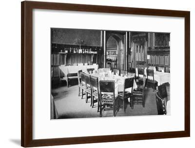 Ministers' Table, House of Commons Dining Room, Palace of Westminster, London, C1905--Framed Giclee Print