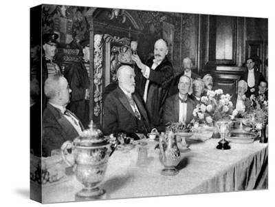 The Coronation of the Master of the Girdlers' Company, London, 1926-1927--Stretched Canvas Print