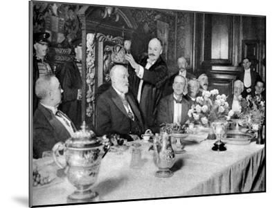 The Coronation of the Master of the Girdlers' Company, London, 1926-1927--Mounted Giclee Print
