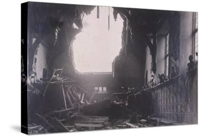 Interior View of Middle Temple Hall, City of London, after an Air Raid, C1941--Stretched Canvas Print