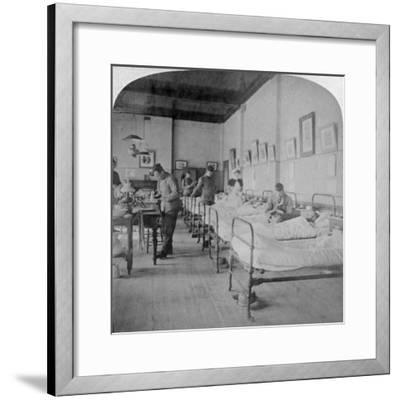 Ward in General Hospital No 10, Formerly Grey's College, Bloemfontein, South Africa, 1901-Underwood & Underwood-Framed Giclee Print