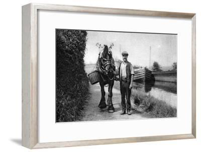 A Horse Pulling a Canal Barge, 1926-1927--Framed Giclee Print