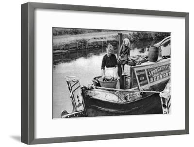 Washing Day on the Canal Boat, 1926-1927--Framed Giclee Print