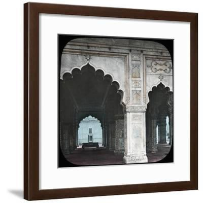 Interior of the Diwan-I-Khas, Red Fort, Delhi, India, Late 19th or Early 20th Century--Framed Giclee Print
