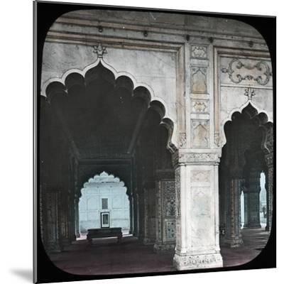 Interior of the Diwan-I-Khas, Red Fort, Delhi, India, Late 19th or Early 20th Century--Mounted Giclee Print
