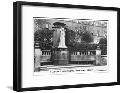 Florence Nightingale Memorial, Derby, 1937--Framed Giclee Print