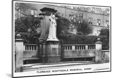 Florence Nightingale Memorial, Derby, 1937--Mounted Giclee Print