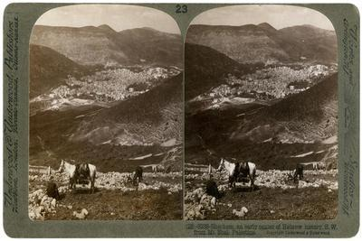 Shechem, South-West from Mount Ebal, Palestine, 1900s-Underwood & Underwood-Framed Giclee Print