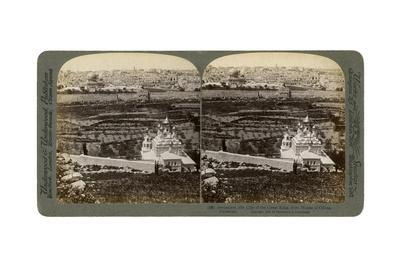 Jerusalem, as Seen from the Mount of Olives, Palestine, 1901-Underwood & Underwood-Framed Giclee Print