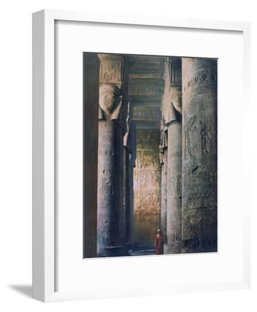 The Grand Hall, Temple of Hathor, Dendera, Egypt, 20th Century--Framed Giclee Print