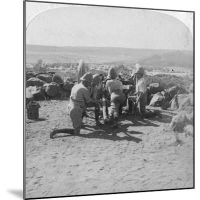 British Artillery in Action, South Africa, 2nd Boer War, 6 February 1900-Underwood & Underwood-Mounted Giclee Print
