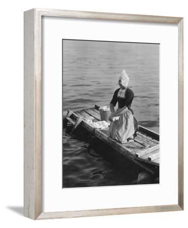 Washing in the Zuider Zee, Volendam, Netherlands, C1934--Framed Giclee Print