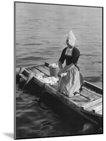 Washing in the Zuider Zee, Volendam, Netherlands, C1934--Mounted Giclee Print