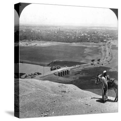 Assiut, the Largest City of Upper Egypt, 1905-Underwood & Underwood-Stretched Canvas Print