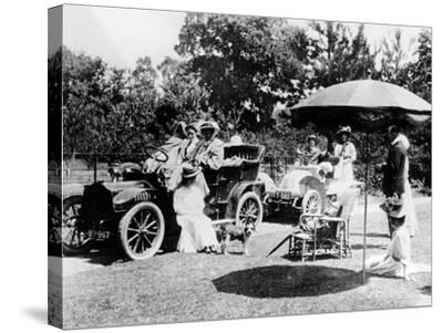 A Driving Party, (Early 1900s)--Stretched Canvas Print