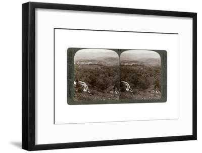 The Plain of Dothan, Palestine, 1900-Underwood & Underwood-Framed Giclee Print
