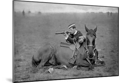 A Dismounted Lancer at a Skirmishing Display, 1896-Gregory & Co-Mounted Giclee Print