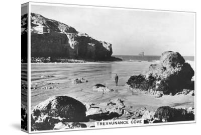 Trevaunance Cove, Cornwall Coast, 1937--Stretched Canvas Print