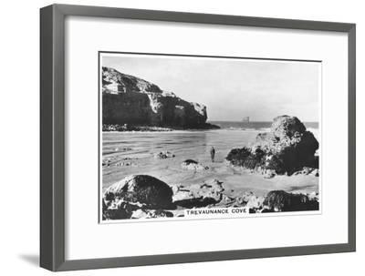 Trevaunance Cove, Cornwall Coast, 1937--Framed Giclee Print