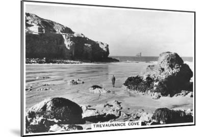 Trevaunance Cove, Cornwall Coast, 1937--Mounted Giclee Print