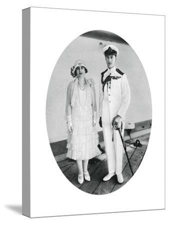 The Duke and Duchess of York on Board HMS 'Renown, Malta, 1927--Stretched Canvas Print