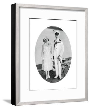 The Duke and Duchess of York on Board HMS 'Renown, Malta, 1927--Framed Giclee Print