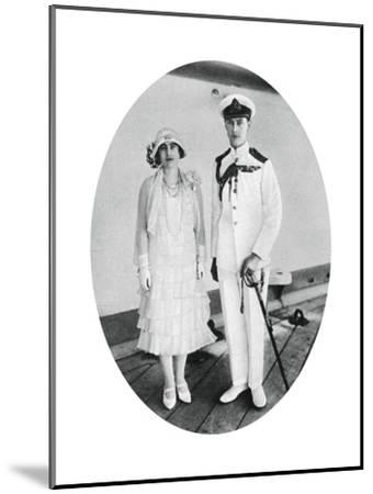 The Duke and Duchess of York on Board HMS 'Renown, Malta, 1927--Mounted Giclee Print