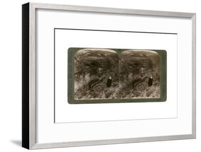 The Gorge of Brook Cherith and Elijah Convent, Palestine, 1890-Underwood & Underwood-Framed Giclee Print