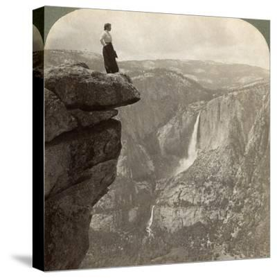 View from Glacier Point, Yosemite Valley, California, USA, 1902-Underwood & Underwood-Stretched Canvas Print