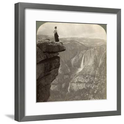View from Glacier Point, Yosemite Valley, California, USA, 1902-Underwood & Underwood-Framed Giclee Print