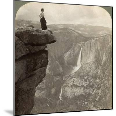 View from Glacier Point, Yosemite Valley, California, USA, 1902-Underwood & Underwood-Mounted Giclee Print
