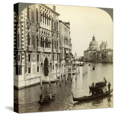 The Grand Canal, Venice, Italy-Underwood & Underwood-Stretched Canvas Print