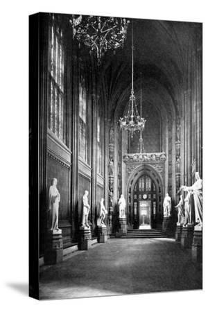 St Stephen's Hall, Palace of Westminster, London, C1905--Stretched Canvas Print
