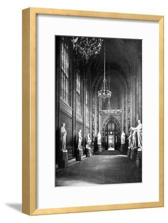 St Stephen's Hall, Palace of Westminster, London, C1905--Framed Giclee Print