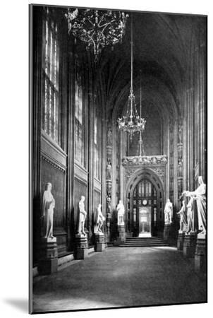 St Stephen's Hall, Palace of Westminster, London, C1905--Mounted Giclee Print