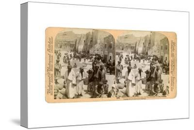 Church of the Nativity, Built Where Jesus Was Born, Bethlehem, Palestine, 1900-Underwood & Underwood-Stretched Canvas Print