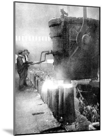 Bessemer Process for Manufacturing Steel, 1936--Mounted Giclee Print