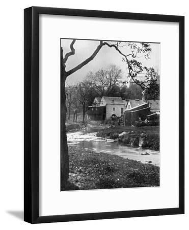 Old Mill, Milngavie, East Dunbartonshire, Scotland, 1924-1926-Valentine & Sons-Framed Giclee Print
