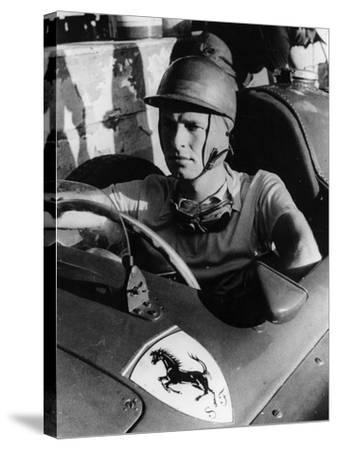 Peter Collins in a Ferrari, C1956--Stretched Canvas Print