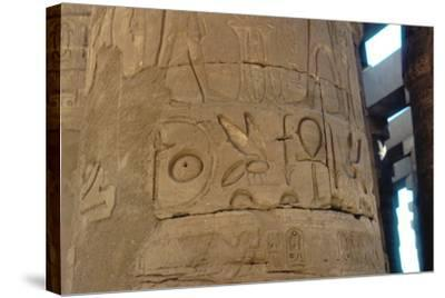 Hieroglyphics Carved on a Column at the Temple of Karnak, Egypt, C14th-13th Century Bc--Stretched Canvas Print