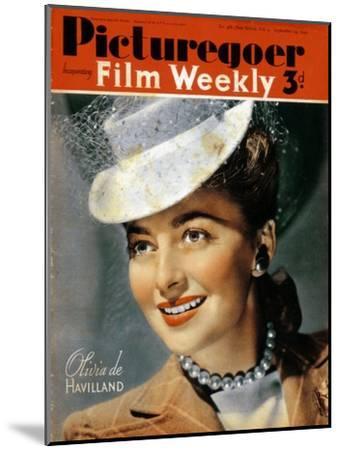 Olivia De Havilland (B191), American Actress, 1940--Mounted Giclee Print