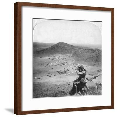 Looking into the Orange Free State, Boer War, South Africa, 1900-Underwood & Underwood-Framed Giclee Print