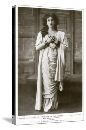Marie Leonhard, Actress, C1900s-Foulsham and Banfield-Stretched Canvas Print