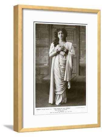 Marie Leonhard, Actress, C1900s-Foulsham and Banfield-Framed Giclee Print
