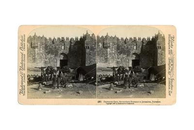 The Damascus Gate, the Nothern Entrance to Jerusalem, Palestine, 1899-Underwood & Underwood-Framed Giclee Print